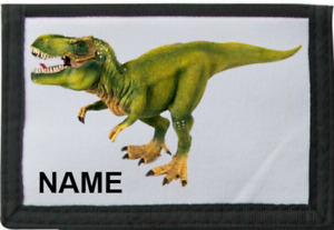 Personalised Dinosaur Wallet *Pink/Blue/Black/Red* By Mayzie Designs®