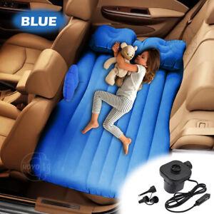 Inflatable Travel Car Air Bed Camping Mattress Back Seat Sleep Rest Pillow/Pump