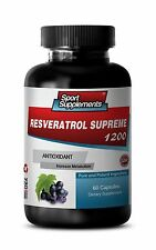 Anti-Aging Booster - Resveratrol Supreme 1200mg - Metabolism Suport Pills 1B