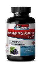 Anti-Aging Booster - Resveratrol Supreme 1200mg - Metabolism Suport Pills 1B