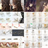 Women Girls Gold Silver Geometry Triangle Hairpin Hair Clip Hair Accessories NEW