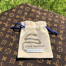 Louis Vuitton LV Military Dog Tag Chain Pendant 18K White Gold N04306 Virgil Kim