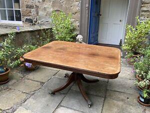 Regency mahogany tilt top breakfast or dining table