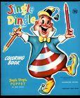 Jingle Dingle Coloring Book w/BC Puppet #1356 Leon Jason '40's File Copy Unused