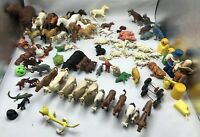 Lot Vintage Plastic Horses Bears Lions Pigs Cows And Misc Figures Attic Find