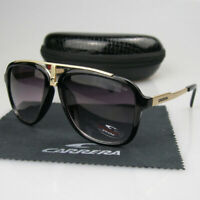 New Arrival Men Womens Retro Sunglasses Sport Matte Black Frame Carrera Glasses