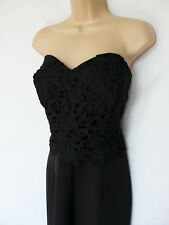 LIPSY Black  lace tapered leg jumpsuit Wedding Evening Party Occasion size 16