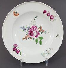 (G1582) Meissen Teller 18. Jahrhundert, Blumenmalerei,1.Wahl, Durchmesser 24 cm