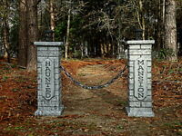 Evil Soul Studios Haunted Mansion Cemetery Lighted Columns Halloween Prop