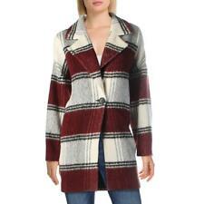 Gracia Womens Wool Blend Corduroy Cold Weather Pea Coat Jacket BHFO 6408