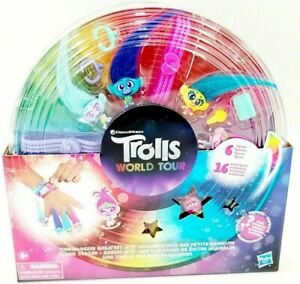 Trolls World Tour Tiny Dancers Greatest Hits Figure Accessories Set Pack Playset