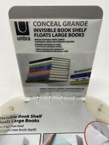 Two BRAND NEW/ SEALED Umbra Conceal Invisible Book Shelf/ Floating books storage