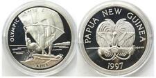 "Papua New Guinea 5 Kina 1997 ""Windsurfen - Olympia 2000"" (Silber) KM#40,orig. PP"