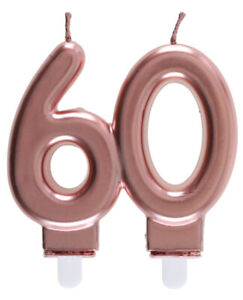Bougie 60 Ans Rose Gold Anniversaire