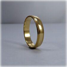 18ct Gold Beaded Edge Wedding Ring