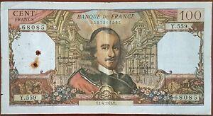 Billet de 100 francs CORNEILLE 1 - 4 - 1971 FRANCE Y.559
