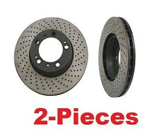 2-Pieces Cross Drilled Front Disc Brake Rotors Porsche Boxster-Cayman-911 NEW