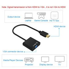 COOLJIER HDMI to VGA Cable Converter Digital Analog HD 1080P For PC Laptop Table