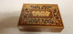 SORRENTO WARE PLAYING CARD BOX