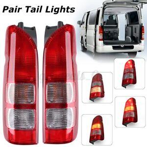 Pair Rear Tail Light Lamp W/ Bulbs For Toyota Hiace Van HiAce/Commuter 2005-2019