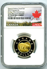 2019 $2 CANADA TOONIE SPECIAL D-DAY PROOF NGC PF70 UC TWO DOLLAR FIRST RELEASES