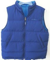 LL Bean Goose Down Puffer Vest Reversible Kids Youth Size Large 14/16 EXCELLENT
