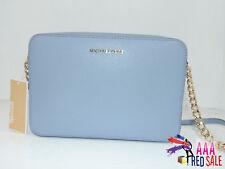 NWT New Michael Kors Handbag Crossbodies Large East West Pale Blue Crossbody Bag