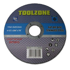 """Toolzone Stainless S Cutting Discs 4 1/2"""" 115mm x 22.2mm (PACK OF25) AB037"""