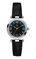 Guess GC x17002l2 B1-Class Lady Women's Watch, Black Leather Band