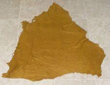 New listing (Eae10354-9) Hide of Yellow Brown Lambskin Suede Leather Hide Skin