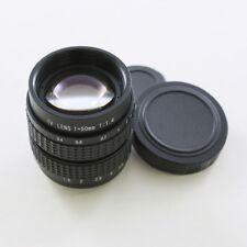 50mm f/1.4 CCTV C Mount CCTV Objektiv körper für M4/3 Sony NEX EOS M FX schwarz