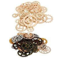 50g Watch Parts Steampunk Jewelry Making Art Craft Cyberpunk Cogs & Gears Charms