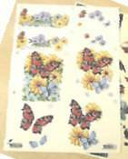 25 sheets floral decoupage, cards, scrapbooks, crafts