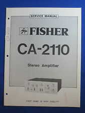 FISHER CA-2110 PREAMPLIFIER SERVICE MANUAL ORIGINAL GOOD CONDITION