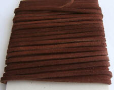 1 Metre Length Medium Brown Thick Suede Leather Craft Lace / Cord / Thonging
