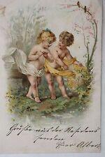 16018 AK Kinder Engel Frühling 1901 PC children