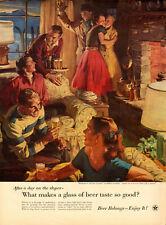 1955 vintage AD for BEER!, US Brewer's Foundation, Great art by Sundblom -051514