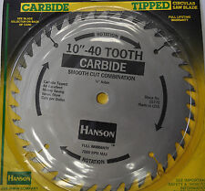 """10-IN CARBIDE-TIPPED SAW BLADE, 40-TEETH  5/8"""" ARBOR MADE IN USA IRWIN 15770"""