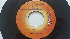 "LITTLE JUNIOR PARKER - Mary Jo / Annie Get Your Yo-Yo 1961 CHICAGO BLUES 7"" Duke"