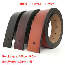 "2019 High quality Mens belt Genuine Leather Belt No Buckle waist 30""-48""3 colors"