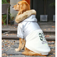 Big Dogs Clothes Winter Warm Coat Jacket Labrador Pitbull Pullovers Clothes