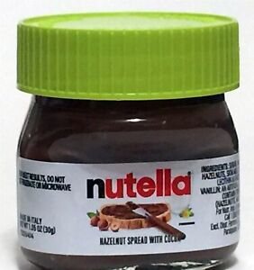 NUTELLA mini-jar GREEN top 1.05oz Shot-glass Made in Italy EASTER SPECIAL 2021