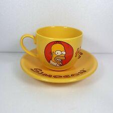 More details for tropico vintage large homer simpson mug and saucer set 1997 - free delivery
