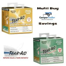 Tear Aid Bulk Pack Combo Type A & B Repair Roll Kit - Canvas Vinyl Tent Annex
