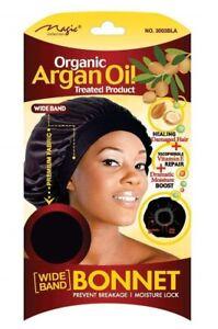 MAGIC COLLECTION WOMEN'S ORGANIC ARGAN OIL TREATED BONNET 3003 BLACK