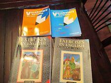 4 USED WORKBOOKS EXERCISES IN ENGLISH LEVEL E&D VOCABULARY WORKSHOP ORANGE BLUE
