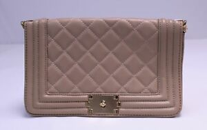 Dasein Women's Faux Leather Chain Strap Quilted Crossbody Bag DG4 Pink Medium