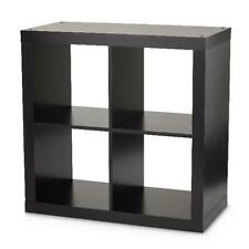 Better Homes & Gardens Square 4-Cube Organizer, Solid Black