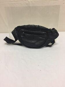 Vintage Black Leather Fanny Pack Hipster