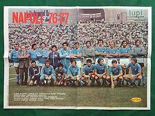 (FM22) FOTO SQUADRA NAPOLI 1976/77 BURGNICH SAVOLDI POSTER 40x55 cm da Intrepido